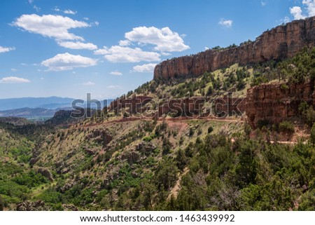 Colorado landscape of beautiful canyon walls on the Shelf Road near Cripple Creek #1463439992