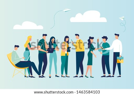 Vector colorful illustration of communication via the Internet, social networking,chat, video,news,messages,web site, search friends, mobile web graphics vector #1463584103