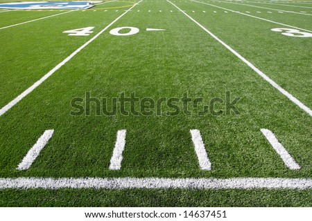 A new astro turf foot ball field #14637451