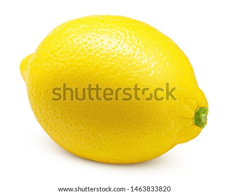 Whole lemon isolated on white background, clipping path, full depth of field #1463833820