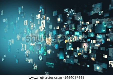 Creative digital image gallery. Media and communication concept Royalty-Free Stock Photo #1464039665