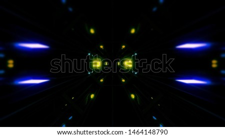futuristic science-fiction tunnel corridor 3d illustration background #1464148790