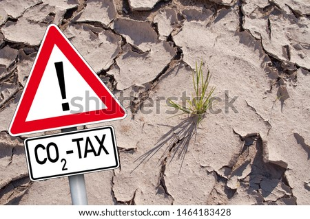Traffic sign with CO2 Tax #1464183428