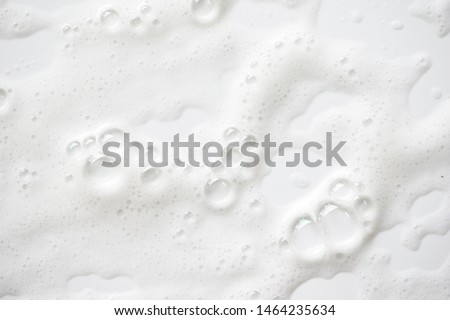 Abstract background white soapy foam texture. Shampoo foam with bubbles #1464235634