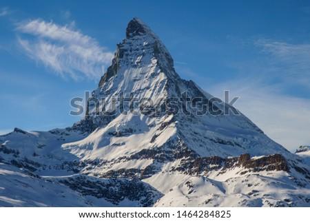 Matterhorn in Winter Wonderland in Zermatt Switzerland #1464284825