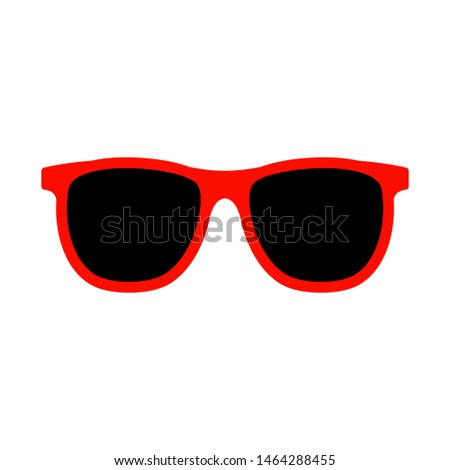 sunglasses icon in flat style isolated. Vector Symbol illustration. #1464288455