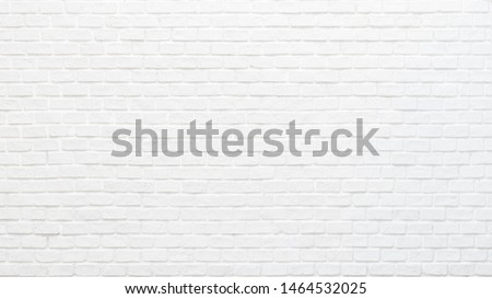 White brick wall texture background for stone tile block painted in grey light color wallpaper modern interior and exterior and backdrop design #1464532025