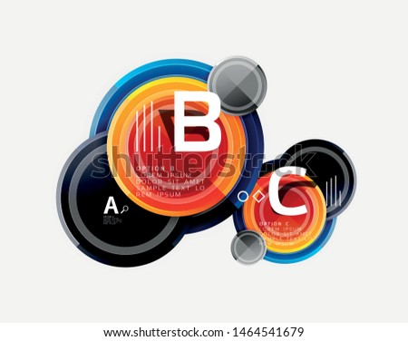 Circle geometric abstract background template for web banner, business presentation, branding, wallpaper. Vector design #1464541679