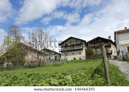 Beutiful village of Sauze d'Oulx in Piedmont, Italy #146466395