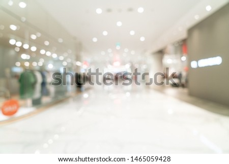 abstract blur and defocused luxury shopping mall for background