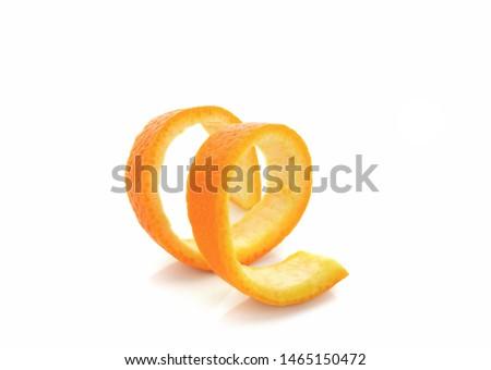 Fresh orange twist on white background #1465150472
