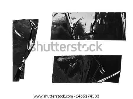 Set of black tapes on white background #1465174583