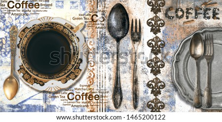 kitchen wall tiles new consept,flowers ,coffee, art pic