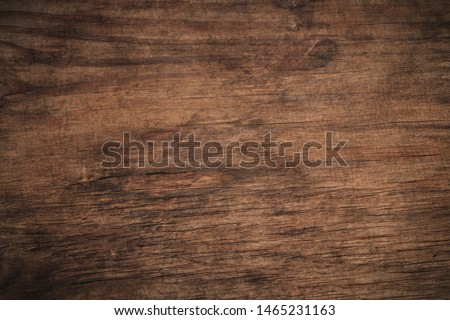 Old grunge dark textured wooden background,The surface of the old brown wood texture,top view brown wood paneling #1465231163