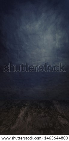Dark backdrop with a custom floor ready for a model photoshoot or a product commercial packshot