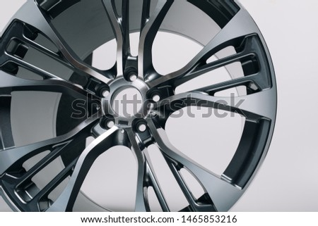 Сar metal disc detail isolated on white background. Car rims #1465853216