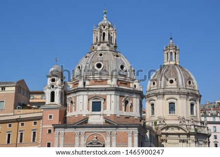 Roofs of ancient buildings and cathedrals in Rome #1465900247