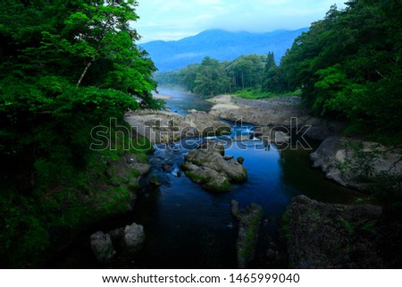 Summer mountain stream in Nishiwaga-cho, Iwate Prefecture #1465999040