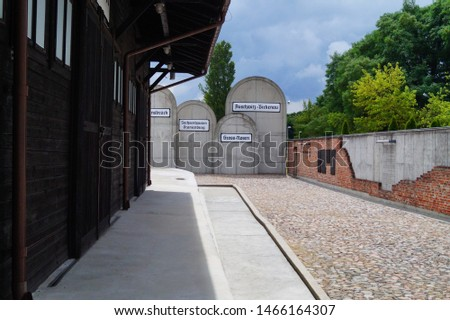 LODZ, POLAND JULY 17 2019; Radegast station.Museum of Independence Traditions .The Radegast railway station commemorating the Jews deported and murdered in the German Nazi concentration camps. #1466164307