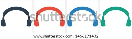 Headphones vector icon on background. Web design icon. Headphones icon minimalist design. Headphones for music #1466171432