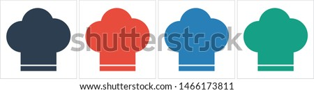 Chef hat vector icon. Cooking hat illustration vector icon. Kitchen logo. Culinary chef icon. Design web icon #1466173811