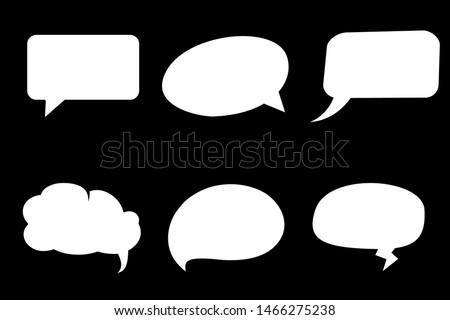 Comic speech bubble isolated sticker vector icon set. Cartoon bubble speech tag icons collection. Cloud bubble speech design for text, talk, message, dialogue. Balloon bubble speech textbox banner #1466275238