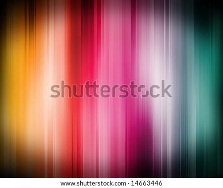 High-tech rainbow blur � makes a good background image.