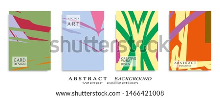 Abstract universal grunge art texture, web header template. Collage page, design for card, invitation, brochure brush strokes style, banner idea, book cover, booklet print, flyer sheet a4 #1466421008