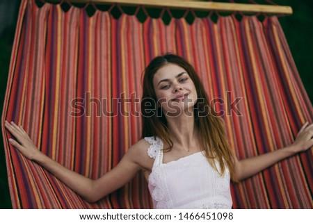 beautiful woman hammock leisure leisure relax #1466451098