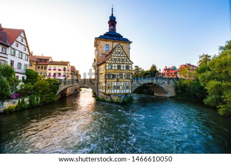 Historical town hall in Bamberg, Bavaria, Germany #1466610050
