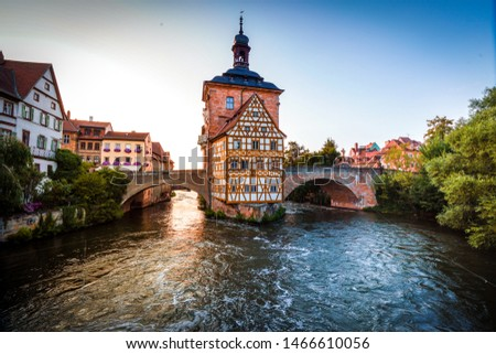 Historical town hall in Bamberg, Bavaria, Germany #1466610056
