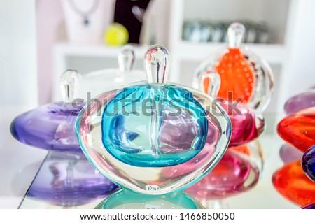 Glass perfume bottle in shop #1466850050