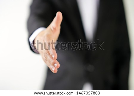 business man Gesture to shakinghand #1467057803