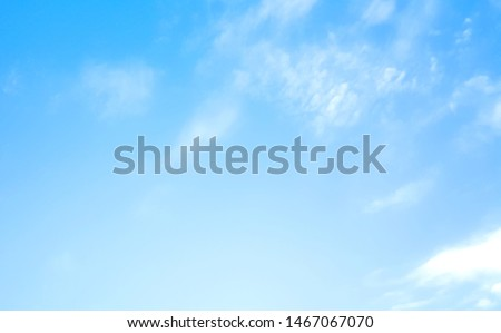 blue sky with beautiful natural white clouds #1467067070