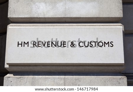 HM Revenue and Customs sign on a building.