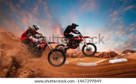 Motocross rider in action. Motocross sport. #1467299849