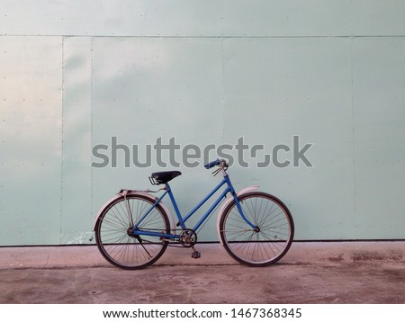 Old bicycle for old school