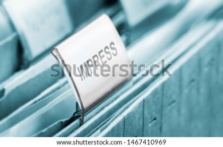 impress - a symbol foto of a tab #1467410969