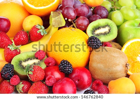Fresh fruits and berries close up #146762840