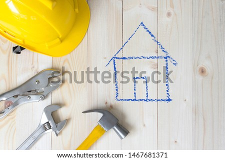 House repairman equipment , construction tools for fixing #1467681371