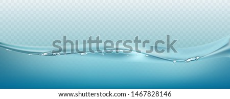 Water vector wave transparent surface with bubbles of air. Vector illustration #1467828146