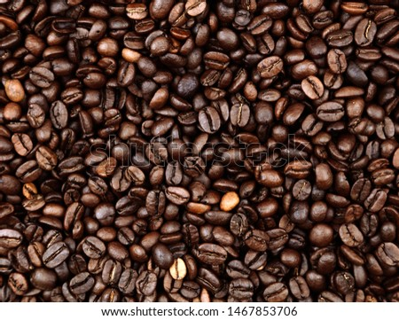 Closeup of roasted coffee beans #1467853706