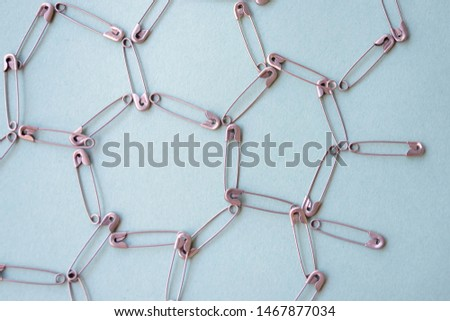 Linking entities. Network, networking, social media, connectivity, internet communication abstract. Abstract concept of connections assembled from pins. #1467877034