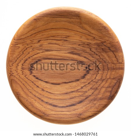 Handmade teak wood plate, teak wood texture. #1468029761