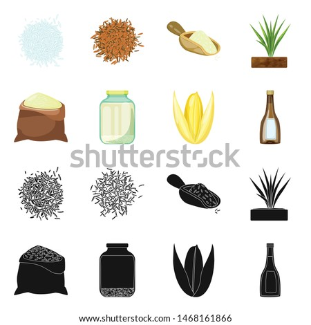 Vector illustration of crop and ecological icon. Set of crop and cooking vector icon for stock. #1468161866