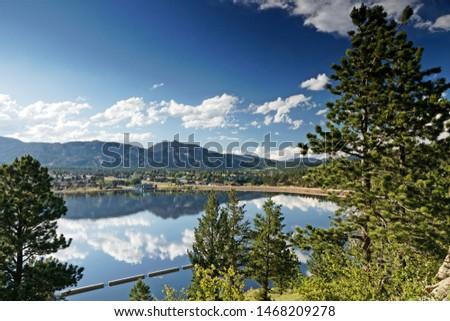 view over Estes lake in Estes park in Colorado #1468209278