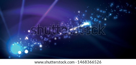 Fireworks dark night background for celebration design. Blue abstract background. Birthday party. Festive art background. Space background. Night party. Anniversary, birthday. Christmas eve. #1468366526