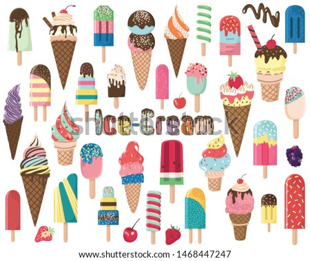 Popsicles and Ice Cream Elements