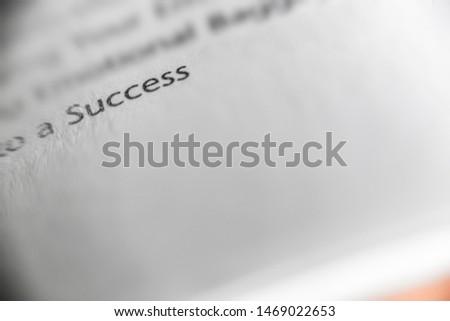 Success word in a book #1469022653