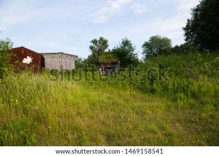 Garages in the land in the village #1469158541